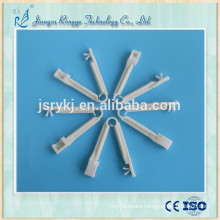 Disposable medical plastic umbilical cord clamp