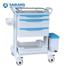 O plástico médico móvel do ABS do hospital SKR-ET223 droga o trole