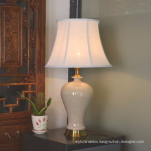 Ceramic table lamps brass base bedroom table lamps 2277