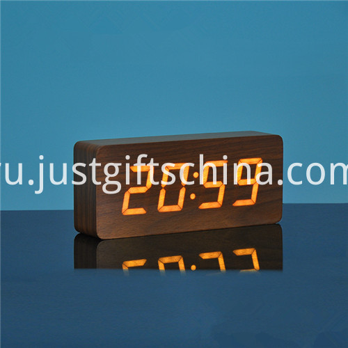 Promotional Logo Printed Rectangle Wooden Clock 3