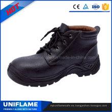 Zapatos de cuero con punta de acero Zapatos de trabajo con hombres