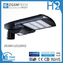 Luz do UL da luz de rua do diodo emissor de luz da luz de 120W Shoebox aprovada