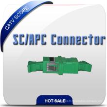 Adaptateur fibre optique FTTH Sc / APC, FC, LC, E2000, St Option