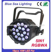 5in118pcs 15w RGBWA LED par indoor levou palco iluminação china preço de fábrica