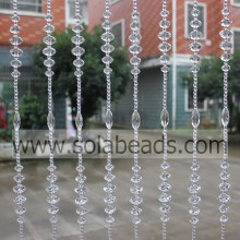 Christmas Decoration 30MM&22MM&18MM&14MM&6MM Wire Crystal Acrylic Beaded Garland Trim