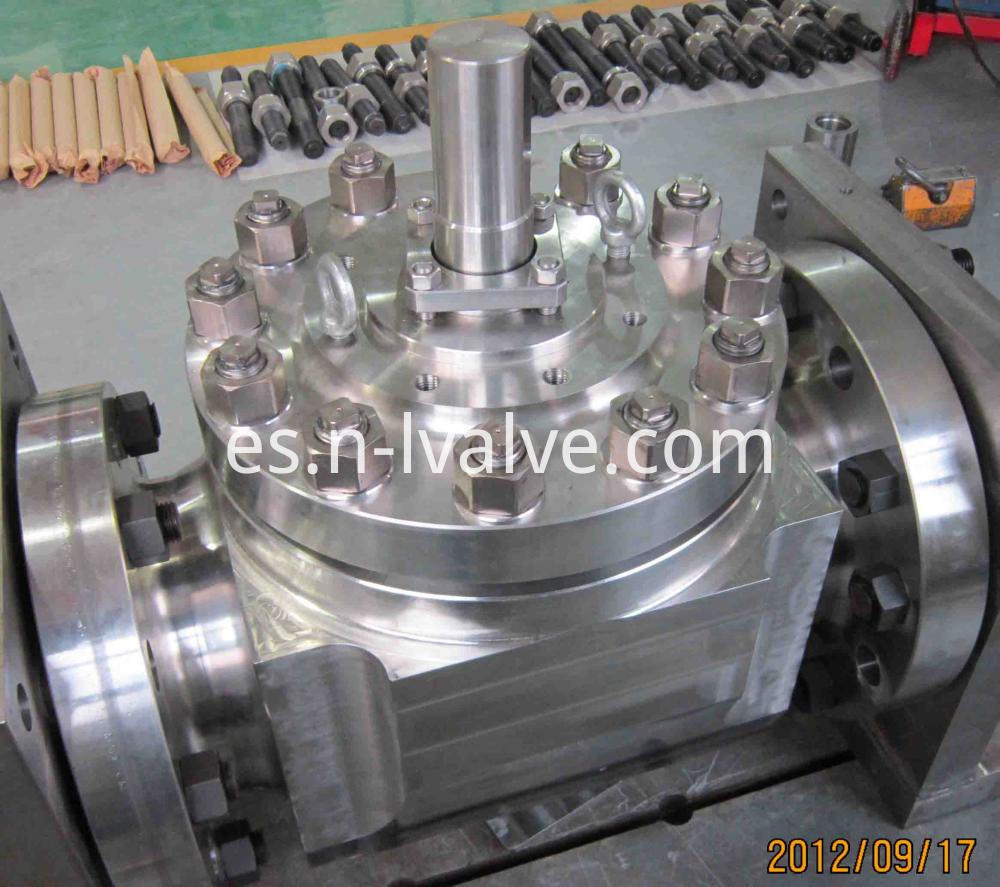 High Pressure Wearproof Top Enter Hard Seal Ball Valve