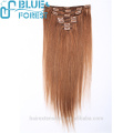 100% Unprocessed Brazilian Virgin Hair Clip In Hair Extension