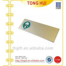 Placa de logotipo de impresión personalizada de oro / metal accesorio