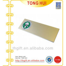 Ouro personalizado impressão logotipo chapa / acessório metal