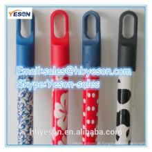 Vassouras punho de madeira handel stick PVC revestido com preto curto cap