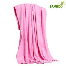 Eco-Friendly 100% Bamboo Fiber Plain Bath Towel Blanket