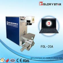 Máquina portátil da marca do laser da fibra do tipo com certificação de Ce