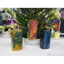 Cheapest Price for E Cigarette Vape 26650 18650 Stabilized Wood TC Box Mod vape supply to United States Factory