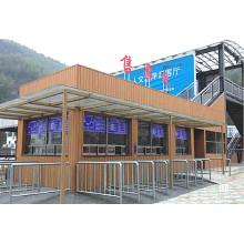 Revestimiento de pared resistente a los golpes Panel exterior compuesto de madera de la decoración al aire libre