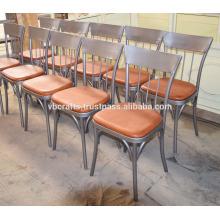 Chaise de restaurant en cuir industriel en cuir Nouveau design