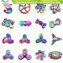 Rainbow Colors Metal Alloy EDC Mão Fidget Spinner Alta Velocidade Foco Toy Presentes