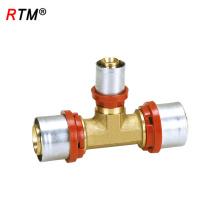 B17 4 13 conector de la T de ajuste a presión de latón con conexión a presión t-joint