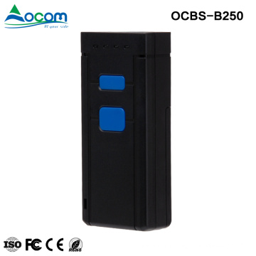 OCBS-B250:China Mini Wireless Bluetooth 2d Barcode Scanner for Android etc.