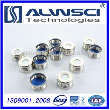 China 18mm Silber Farbe Open Top Magnetkappe für Headspace Durchstechflasche