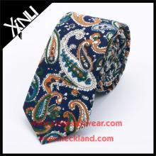 100% Handmade Paisley Pattern Custom Print Silk Tie Winter Novelty