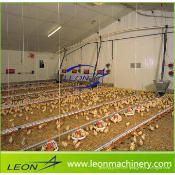 Sistema de alimentação de frangos de corte para aviários da série Leon