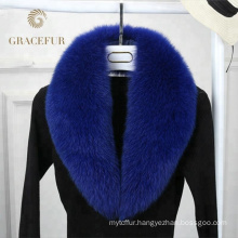 Good price detachable big fox fur collar luxury
