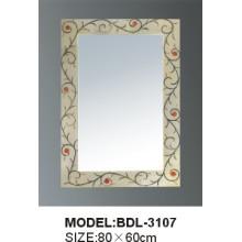 Miroir de salle de bains en verre argenté d'épaisseur de 5mm (BDL-3107)