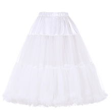 Belle Poque Women's Luxury White Crinoline Petticoat Underskirt for Retro Vintage Dress BP000178-2