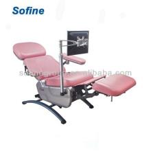 Нормальное электрическое кресло для донора крови, кресло донора крови (одобрено CE), стул артериального давления