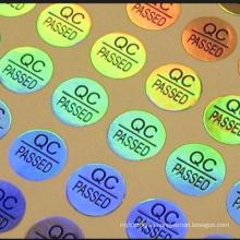 Precio barato QC PASÓ la etiqueta engomada de encargo del holograma