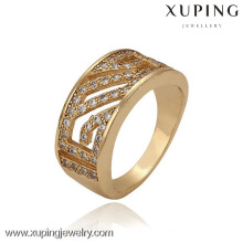 13309 xuping fashion 18k gold plated women finger ring gold ring for girls