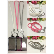 Fashion Vertical Lined Lanyards with Keychain