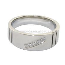 Atacado homens de aço inoxidável dedo anéis jóias