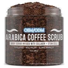 OEM/ODM Best Exfoliating Stretch Mark Treatment Arabica Coffee Body Scrub