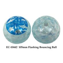 Boule de rebondissement clignotant de 105 mm