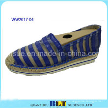Material de alta calidad zapatos causales con cuerda de cáñamo