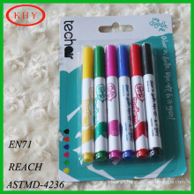 Dry erase 6 pack blister card whiteboard marker with cloth free