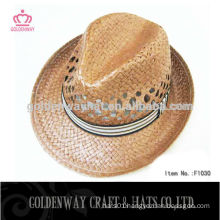 wholesale straw fedora hats with custom band