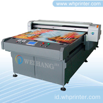 Kulit, Acrylic, kaca Digital Flatbed Printer
