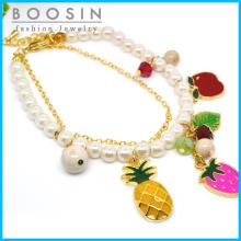 Мода фрукты браслет в золото тонкая цепочка #31453