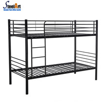 Modernes Doppelschlafzimmer aus Stahl für Erwachsene mit Doppelbett