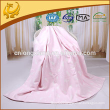 Newest Design Jacquard 100% Cotton Throw Blanket Factory