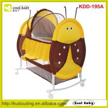 Fabricante NEW Baby Cradle Swing cama berço portátil do bebê para a borboleta infantil Mosquito Net