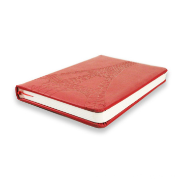Debossed und Embossed Hardcover Notebook PU Leder Notebook Druck