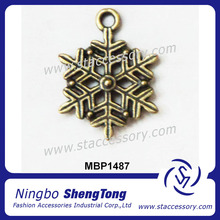 Alloy Accessory Jewelry Fashion Snow Shape Charm From China Wholesale cheap price