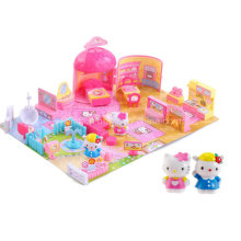 Hello Kitty House Jogar Conjunto Mini Play House Plasstic Toy