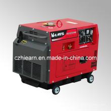 Gerador diesel silencioso da soldadura com cor vermelha (DG6500SEW)