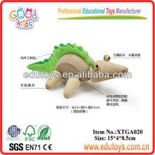 Animal de brinquedo de madeira - Crocodilo de brinquedo