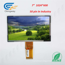 "7"" 50 Pin RGB Interface LCD TFT Embedded PC Display"