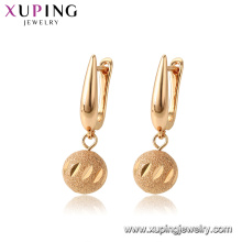 96970 xuping environmental copper drop gold plated earring women